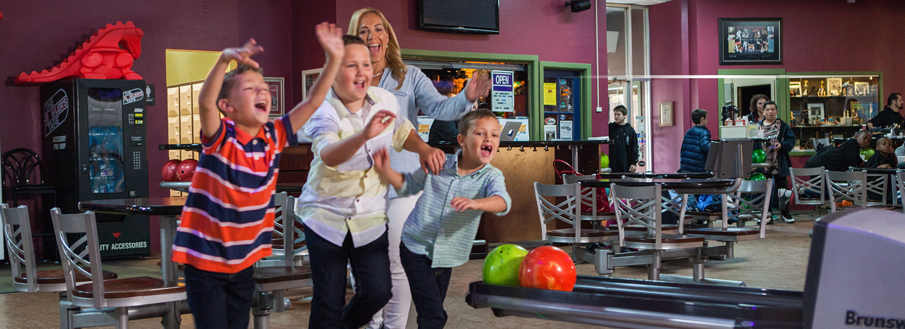 Kids and Parents Bowling